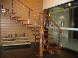 Balustrade en bois de balustrade de solides solubles pour l'escalier en bois