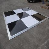 Boda - Blanco y negro de 1 m x 1m el tornillo de madera fabricante de la pista de baile