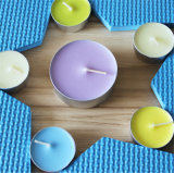 De Kaars van Tealight in de Reeks van de Gift Kleuren