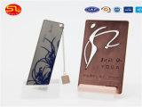Cartões gravados do metal do aço inoxidável da alta qualidade com cavidade