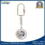 Regalo su ordinazione dell'anello chiave del metallo di marchio del ricordo di promozione