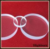 Lastra di vetro ottica rotonda trasparente del quarzo di Jgs