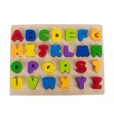 26의 편지 자연적인 나무로 되는 알파벳 수수께끼 아기 교육 장난감