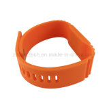 Wristband personalizado do silicone RFID da impressão 13.56MHz do controle de acesso aplicação passiva