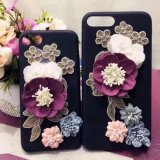 New Arrival Fashion Flower Plush 3D Cell Phone Case for iPhone
