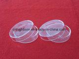 Venta caliente ronda pulido placas Petri de cuarzo transparente con tapa