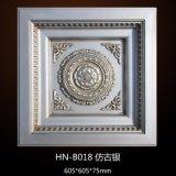 ポリウレタン旧式な天井はPUの天井のローズの天井の円形浮彫りHnB018をタイルを張る