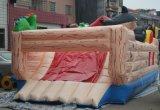 スライドおよび象を持つ商業動物の動物園の膨脹可能な跳躍の警備員