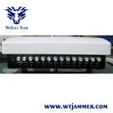 14 악대 조정가능한 GSM CDMA 3G 4G WiFi GPS VHF UHF Lojack 방해기 (붙박이 공중선)