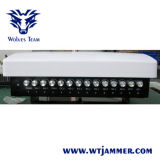 Ajustable de 14 bandas GSM CDMA 3G 4G WiFi GPS VHF UHF Lojack Jammer (Antena incorporada)