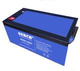 fabricante acidificado ao chumbo livre da bateria do gel da manutenção de 12V 200ah, bateria do UPS, bateria solar, bateria das energias eólicas para UPS, EPS, telecomunicações