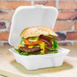 Rectángulo de papel cómodo de Eco del rectángulo de la hamburguesa de la talla 6 del bagazo de la caña de azúcar