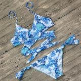 В.ПУТИН Sexy напечатано трехточечной ремни кружева Split купальник женщин линии бикини