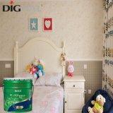 La pared interior de la pintura de emulsión para revestimiento de paredes habitación niños