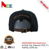 Sombreros adultos llanos bordados aduana del Snapback de la manera de Flexfit con plateado de metal