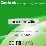 registratore a distanza NVR della rete del CCTV di vista NVR P2p di 9CH H. 265