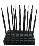 Regelbare Blocker &WiFi van de Telefoon van 14 Antennes Krachtige 3G 4G UHFGPS Lojack van VHF Al Blocker van het Signaal van Banden