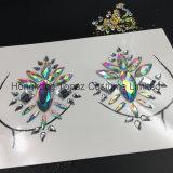 2018 Bling popular y seguro la pegatina de la piel Gema Diamante de cristal acrílico adhesiva pegatinas de pecho (SE01)