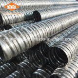 Conduits ondulés galvanisés par qualité en métal