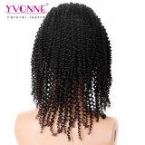 Una parrucca anteriore riccia crespa dei 360 merletti dei capelli umani dei commerci all'ingrosso