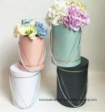 El papel de regalo de cartón Bube Flor de embalaje, tubo de cartón de papel de regalo rosa flor redonda Box