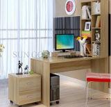 Produto estante de madeira com mesa de estudo Tabelas de computador personalizados (SZ-CDT036)