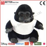 Gorille mou animal de peluche de jouet bourré par cadeau de la promotion En71 dans le T-shirt