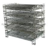 Standardeuroladeplatten-Rahmen-Draht gebildeter zusammenklappbarer Speicher-Ineinander greifen-Behälter