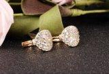 최신 판매 새로운 18K 금 색깔 입방 지르콘 여자 보석 D'oreille를 위한 마이크로 포장된 가득 차있는 CZ 굴렁쇠 귀걸이
