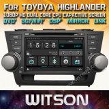 DVD van de Auto van de Vensters van Witson de Speler Van verschillende media voor de Hooglander van Toyota