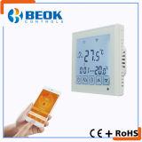 Thermoatat eléctrico elegante con el termóstato grande del sitio de pantalla táctil