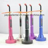 Diodo emissor de luz dental do rádio e do toque que cura a luz com cor