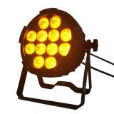 Neues Ankunft durchaus LED NENNWERT Licht für helles DMX Stadiums-Licht des Kirche-Studio-Ereignis-12*15W 5in1 Rgbaw LED PAR64