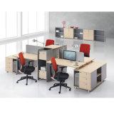 Banco de trabajo de escritorio de oficina del divisor de aluminio para 4 personales