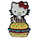 Férias de metal Vacational Hello Kitty Pin de lapela de casamento de logotipo