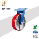 6'' Heavy Duty/rigide fixe sur le noyau de fer Roulette polyuréthane