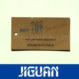etiqueta impresa de la caída de la ropa del zapato de la ropa del papel revestido 350g