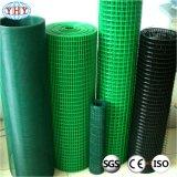 A cor verde revestido de PVC Rolo de malha de arame soldado