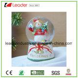 De Bol van de Sneeuw van Kerstmis van Polyresin met de Kurk van de Fles van de Wijn voor de Decoratie van Kerstmis, de Aangepaste Bol van de Sneeuw