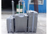 多彩な3部分のABSトロリー荷物は1つのジッパーが付いている4つの車輪の鉄のトロリーをセットした