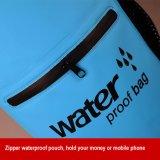 bolso seco flotante impermeable de la bolsa de la cremallera 10L con la correa de hombro dual