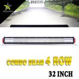 barre automobile d'éclairage LED de rangée de 8d 564W 32inch 4X4 4