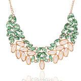 De groene Halsbanden van de Verklaring van de Ketting van de Slab van de Bel van de Bloem van de Manier van de Halsband van de Nauwsluitende halsketting voor Vrouwen