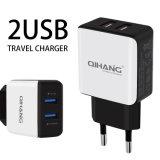 2.4A USB doble Teléfono móvil de alta velocidad USB Cargador adaptador de viaje
