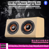 Efeitos Especiais de madeira 5015 Bass Alto-falante Bluetooth sem fio duplo Vocal