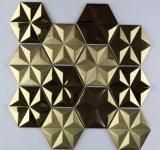 Hexagonal fleur Plaque décorative en acier inoxydable 572