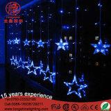 luzes ao ar livre ajustáveis da corda do sincelo da estrela do diodo emissor de luz de 200cm para o Natal