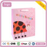 Bolsa de papel del regalo del juguete de la ropa del Ladybug de la estrella del cumpleaños siete