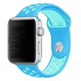 최신 Doule는 나이키 작풍 Apple 시계 줄을%s 고무 실리콘 시계 결박을 착색한다