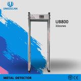 La sensibilidad de 999 caminar a través de la puerta de arco detector de metales con 33 zonas